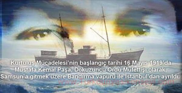 Mustafa Kemal ve Arkadaşlarının Bandırma Vapuru Yolculuğu